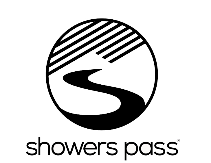 Showers Pass Vertical logo black on white